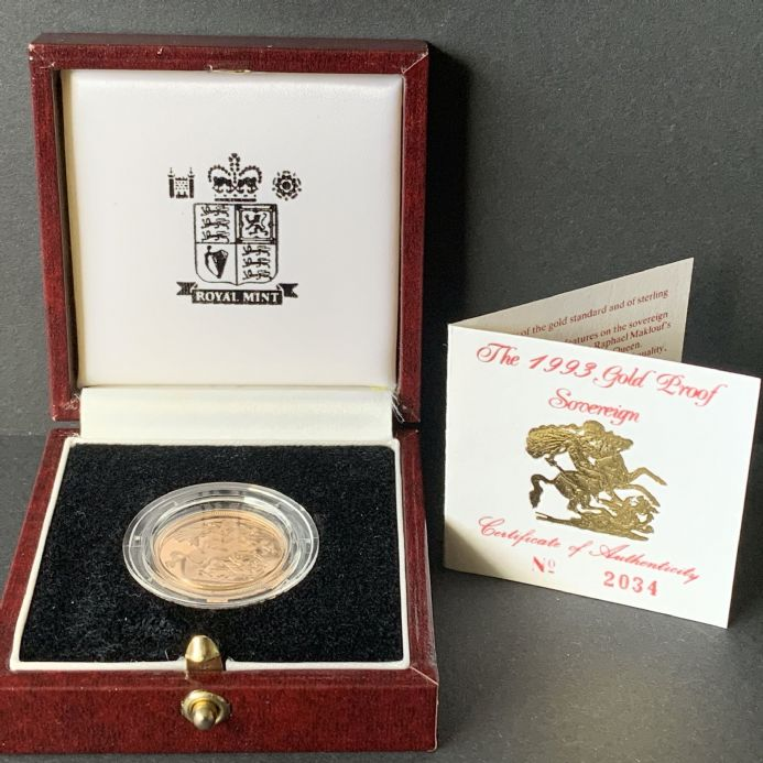 1993 Proof Full Gold Sovereign